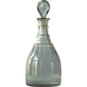Antique Georgian English Cut Glass Carafe Decanter