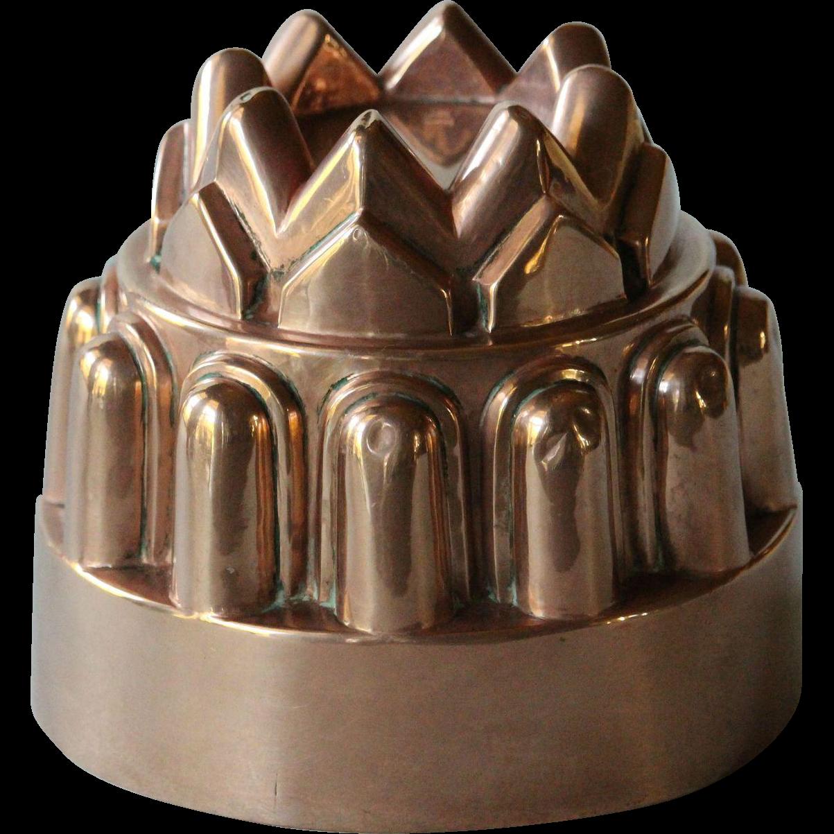Antique English Copper Jelly Mold - 19th Century Victorian Copper Mould