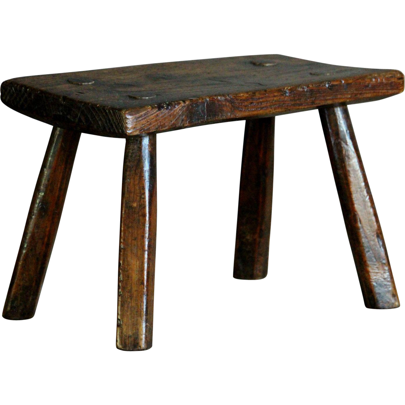 Antique 19th Century English Elm Stool