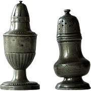 Antique Pewter Pepper Pot Casters - Sugar Sifters Muffineers