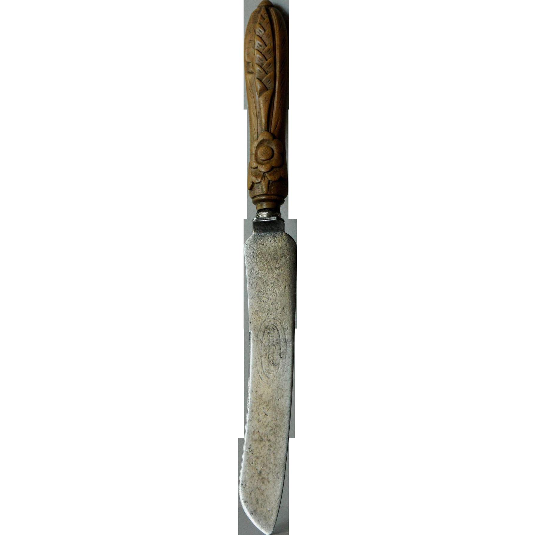 Antique English Bread Knife - 19th Century Victorian Breadknife