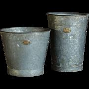 Antique English Hassocks Flower Bucket - Antique Zinc Florist's Buckets