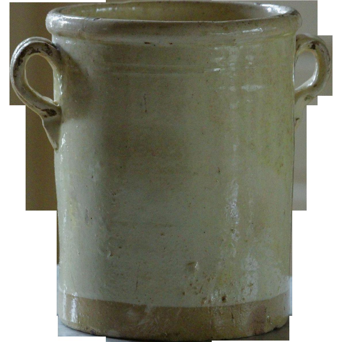 Antique Italian Earthenware Glazed Confit Pot - 19th Century Terracotta Preserve Jar