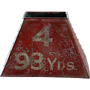 Vintage English Pattisson Golf Course Marker Bin - Industrial Galvanized Metal Box #2