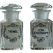 Antique Apothecary Glass Perfume Essence Bottles