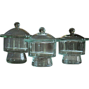 Vintage Science Laboratory Desiccator Glass Jars - Lab Desiccating Jar / Chamber
