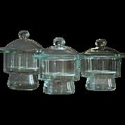 Vintage Science Laboratory Desiccator Glass Jars - Lab Desiccating Jar / Chamber