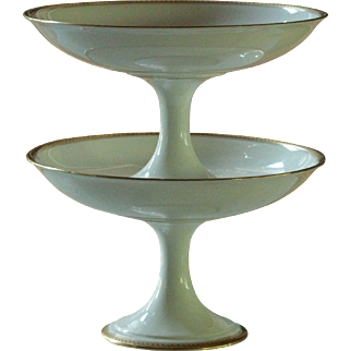 French Limoges Porcelain Legrand & Co Compote Pair