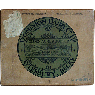 English Dominion Dairy Golden Acres Butter Railway Transport Box