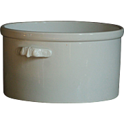 Antique White Ironstone Crock - Cache Pot