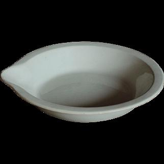 Antique English Dairy Cream / Milk Setting Pan  - Ironstone Lipped Bowl