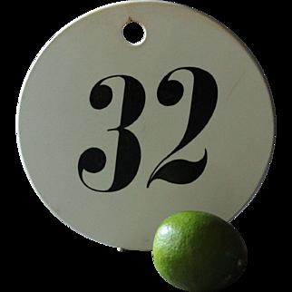 LARGE 19th Century English Creamware Wine Bin Cellar Label Number