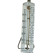 Antique English Ironstone Oven Cookery & Household Thermometer