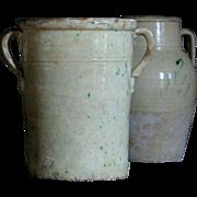 Antique Italian Yellow-Glazed Terracotta Confit Pot - Olive Jar