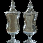 Antique 18th /19th Century English Blown Glass Jars Apothecary / Chemist