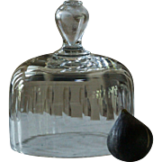 Antique 19th Century French Glass Food Cloche / Dome Cover #2