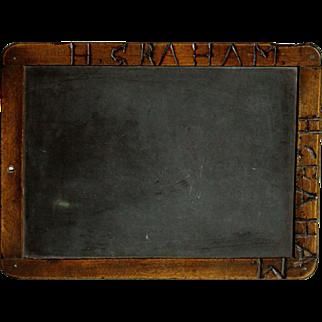 Antique English 19th Century School Chalkboard - Writing Slate Blackboard