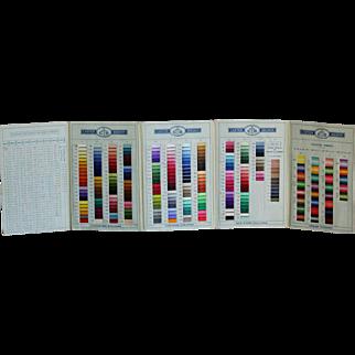 "Vintage 1955 ""Cartier-Bresson Cotons"" Embroidery Cotton Thread Sample Trade Card / Catalogue"