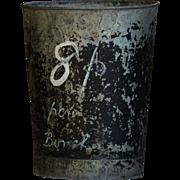Vintage English Florists Flower Bin - Market Garden Zinc Metal Bucket