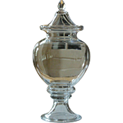 Antique 19th Century French Glass Bonbon Jar LARGE - Apothecary / Chemist's Display