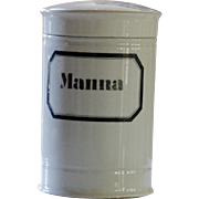 Antique Porcelain Apothecary Jar - Manna