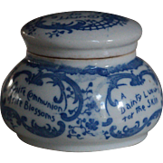 Antique Boston Chemists Magda Toilet Cream Advertising Ointment Pot & Lid