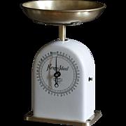 Antique German Ceramic Krups Ideal Kitchen Scales
