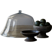 19th Century English Garden Melon Cloche - Antique Bell Glass
