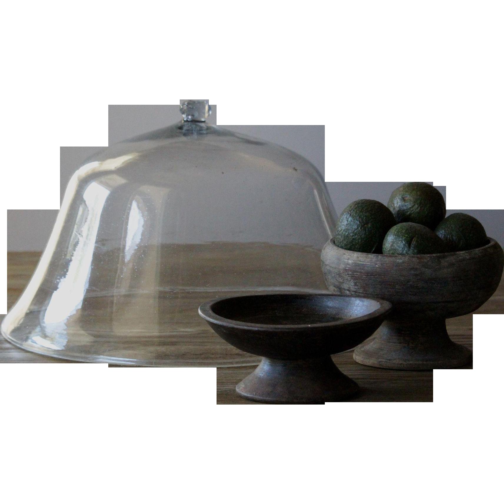 19th Century English Garden Melon Cloche - Antique Bell Glass