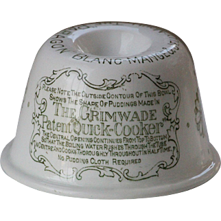 Antique English Grimwade Paragon Blanc-Mange Jelly Mould / Mold - Advertising