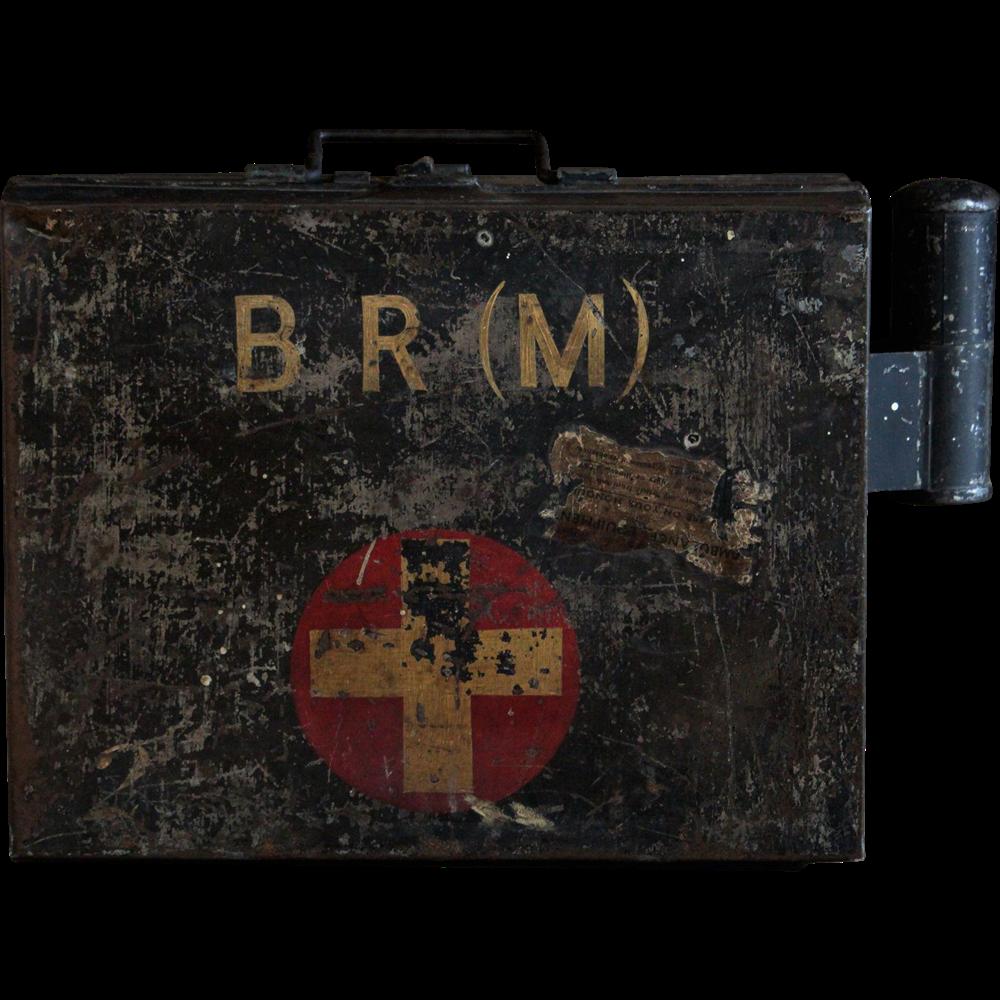 Vintage 1940s BR(M) English British Railways First Aid Box & Contents