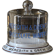 Antique Meredith & Drew Chocolate Wafer's Cakes Shop Display Stand