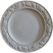 Antique 19th Century English Parian Ware Plate