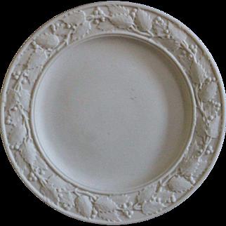 Antique 19th Century English Parian Ware Plate