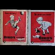 Vintage 1940s English Bird's Custard And Jellies Magazine Advertisement Pages