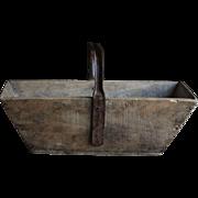 Vintage French Grape Harvest Trug - Basket