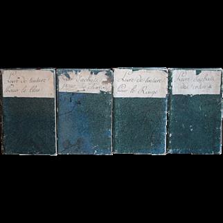 1815 French Cotton Dyer's Manuscript Accounts Books  - 19th Century Handwritten Ledgers / Journals