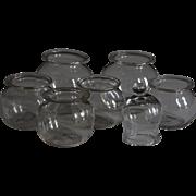 Antique Georgian English blown Glass Cupping Jars - Medical