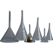 Antique Blown Glass Funnels