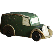 Vintage 1930s - 40s Wooden Toy Van / Truck / Car