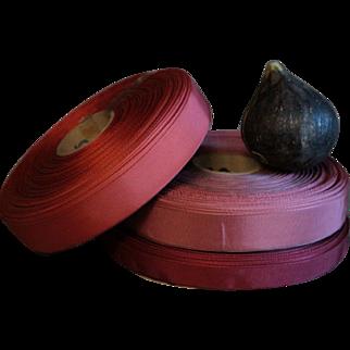 English Vintage Lot of Ribbon Trim -  3 Reels Spools #2