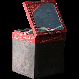 Vintage English Huntley & Palmers  Biscuits Tin - Store Display
