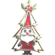 WONDERFUL Vintage Christmas Tree Pin - Signed - Book Piece