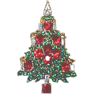 Vintage Signed *LISNER* Christmas Tree Pin