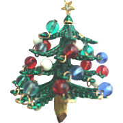 Beautiful Vintage HATTIE CARNEGIE Christmas Tree Pin