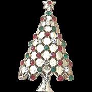 Beautiful Vintage Signed MYLU Christmas Tree Pin - Book Piece
