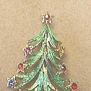 A Beautiful Vintage BEATRIX Christmas Tree Pin - Book Piece