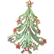 A Beautiful Vintage BEATRIX Christmas Tree Pin - Book Piece