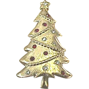 Bright SIGNED Christmas Tree Pin - *TRIFARI* - Book Piece