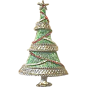 BOOK PIECE - Signed Vintage BEATRIX Christmas Tree Pin